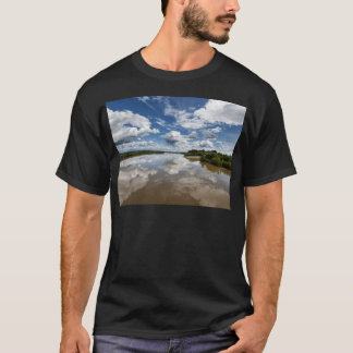 Beautiful clouds over river, reflection in water T-Shirt