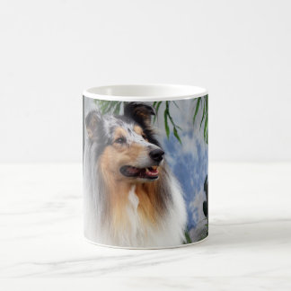 Beautiful Collie dog blue merle mug, gift Coffee Mug