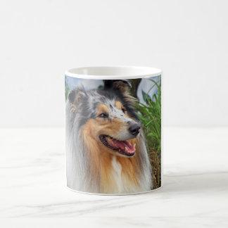 Beautiful Collie dog blue merle mug, gift Coffee Mug