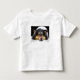 Beautiful collie dog toddlers, girls, boys t-shirt