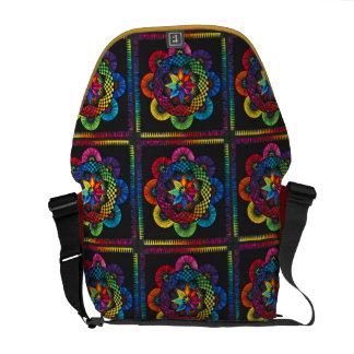 Beautiful Color Wheels Rickshaw Messenger Messenger Bags