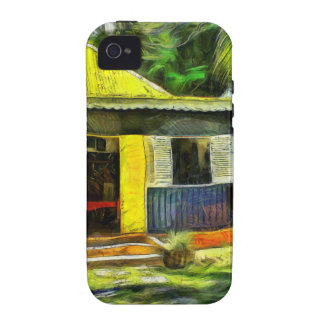 Beautiful colored cottages in a resort vibe iPhone 4 cover