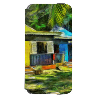 Beautiful colored cottages in a resort incipio watson™ iPhone 6 wallet case
