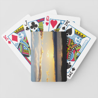 Beautiful Colored Sunset Sky Bicycle Playing Cards