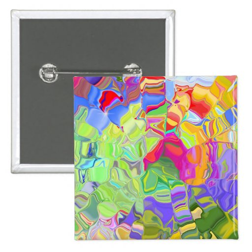 Beautiful Colorful Abstract Art Ice Cubes Gifts Pin