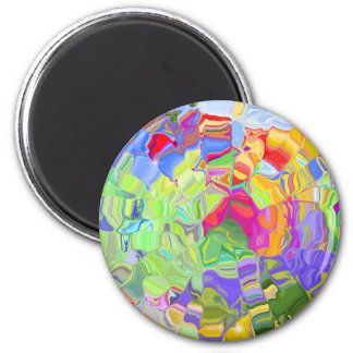 Beautiful Colorful Abstract Art Ice Cubes Gifts Magnet