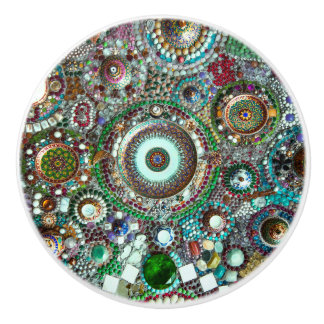 Beautiful Colorful Abstract Mosaic Ceramic Knob