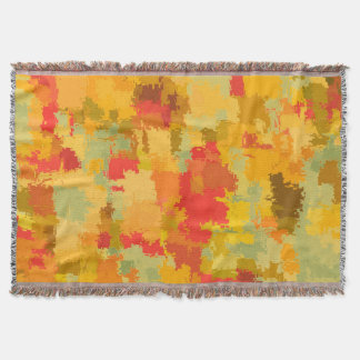 Beautiful Colorful Abstract Pattern Throw Blanket