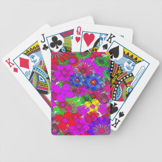 Beautiful colorful amazing floral pattern design a bicycle playing cards