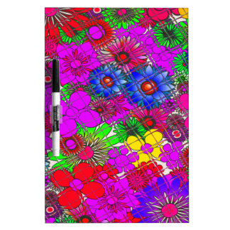 Beautiful colorful amazing floral pattern design a dry erase board