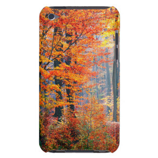 Beautiful colorful autumn fall forest sunbeams iPod touch case