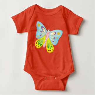 beautiful colorful butterfly love baby bodysuit