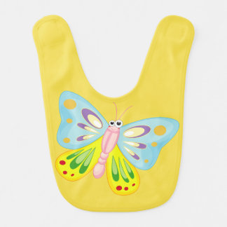 beautiful colorful butterfly love bib