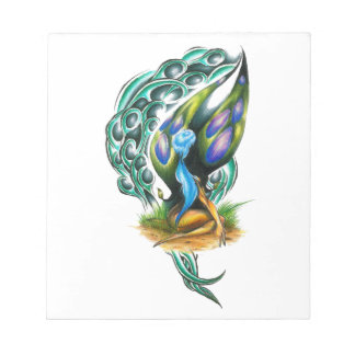Beautiful Colorful Celtic Forest Faery Notepads