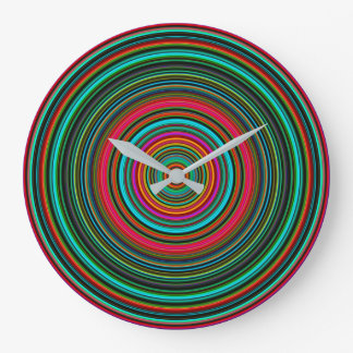 Beautiful Colorful Circular Pattern Large Clock