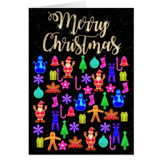 Beautiful Colorful Gingerbread Card