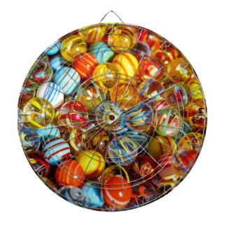beautiful colorful glass marble balls photograph dartboard