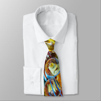 beautiful colorful glass marble balls photograph tie