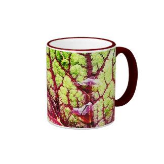 Beautiful Colorful Leaf with Raindrops Coffee Mugs