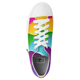 beautiful colorful line vector art printed shoes