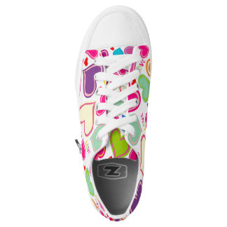 beautiful colorful love hearts vector art printed shoes