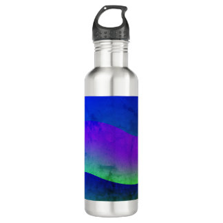 Beautiful Colorful Modern Art Wave Design Bottles