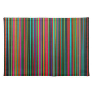 Beautiful Colorful Multicolored Stripe Pattern Placemat