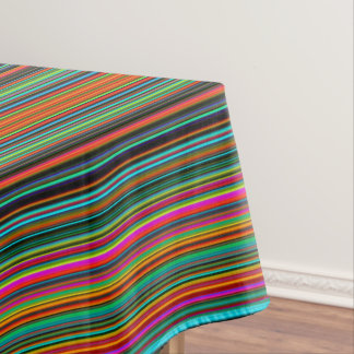 Beautiful Colorful Multicolored Stripe Pattern Tablecloth