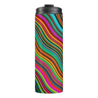 Beautiful Colorful Multicolored Stripe Pattern Thermal Tumbler