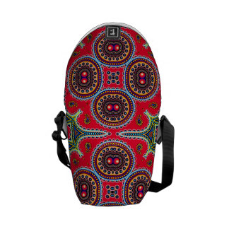 Beautiful Colorful Paisley Pattern,Red Paisley Courier Bag