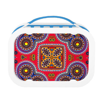Beautiful Colorful Paisley Pattern,Red Paisley Lunch Box