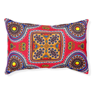 Beautiful Colorful Paisley Pattern,Red Paisley Pet Bed