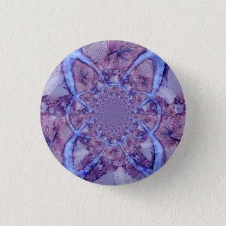 Beautiful colorful purple kaleidoscope 3 cm round badge