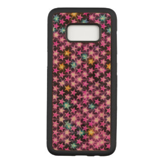 beautiful colorful purple shiny stars carved samsung galaxy s8 case