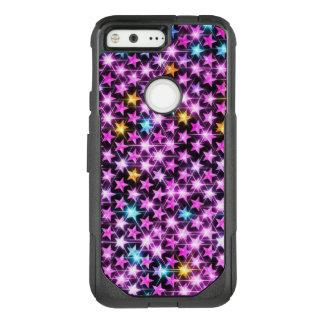 beautiful colorful purple shiny stars OtterBox commuter google pixel case