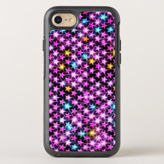 beautiful colorful purple shiny stars OtterBox symmetry iPhone 8/7 case