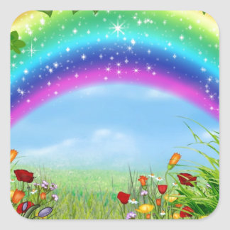 Beautiful,colorful rainbow designed products square sticker