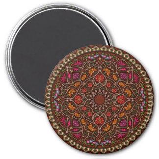 Beautiful Colorful Red Mandala Sticker Magnet