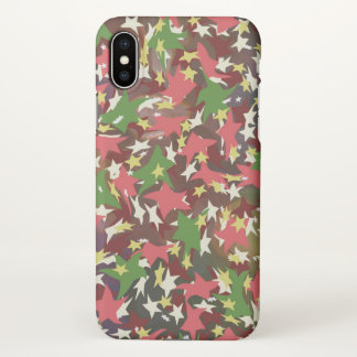 Beautiful colorful stars vector art iPhone x case