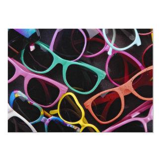 Beautiful Colorful sunglasses 13 Cm X 18 Cm Invitation Card