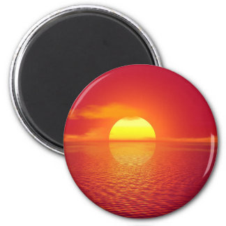 Beautiful colorful sunset fridge magnets