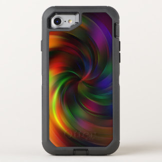 Beautiful colorful Swirl Pattern OtterBox Defender iPhone 8/7 Case