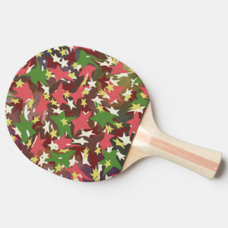 Beautiful colorful swirling stars ping pong paddle