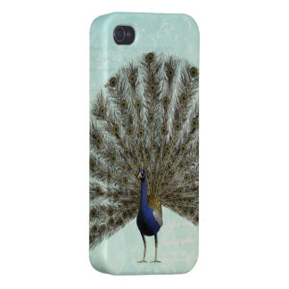 Beautiful Colorful Vintage Peacock Case For The iPhone 4