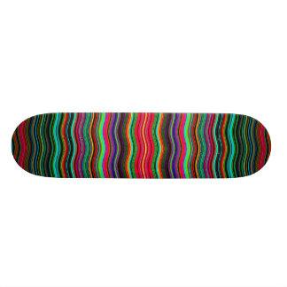 Beautiful Colorful Wavy Stripe Pattern Skateboard Deck