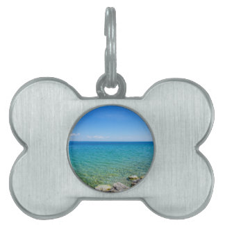 Beautiful Colors Of Lake Huron Pet Name Tag