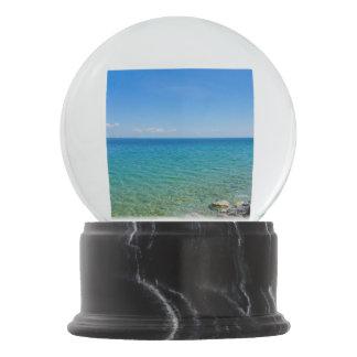 Beautiful Colors Of Lake Huron Snow Globe