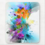 Beautiful colourful and cool splatter music note mouse pads