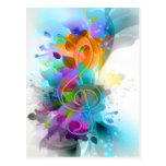 Beautiful colourful and cool splatter music note post card