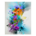 Beautiful colourful and cool splatter music note poster